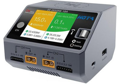 HOBBYMATE D6 DUO DC-INPUT BATTERY CHARGER
